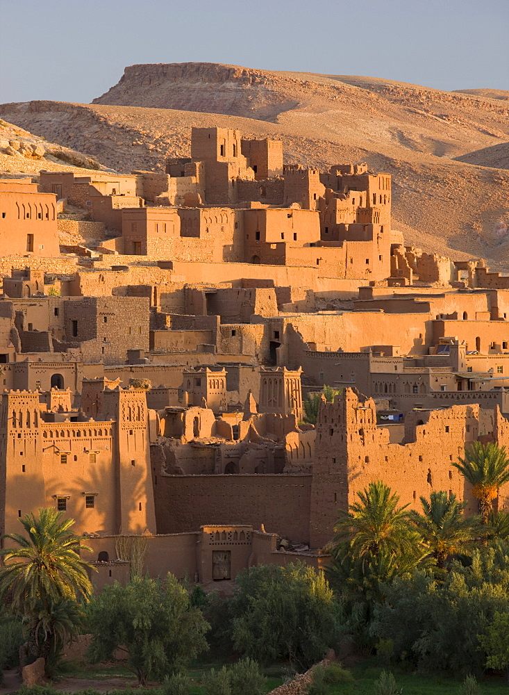 Kasbah Ait Benhaddou, backdrop to many Hollywood epic films, UNESCO World Heritage Site, near Ouarzazate, Morocco, North Africa, Africa