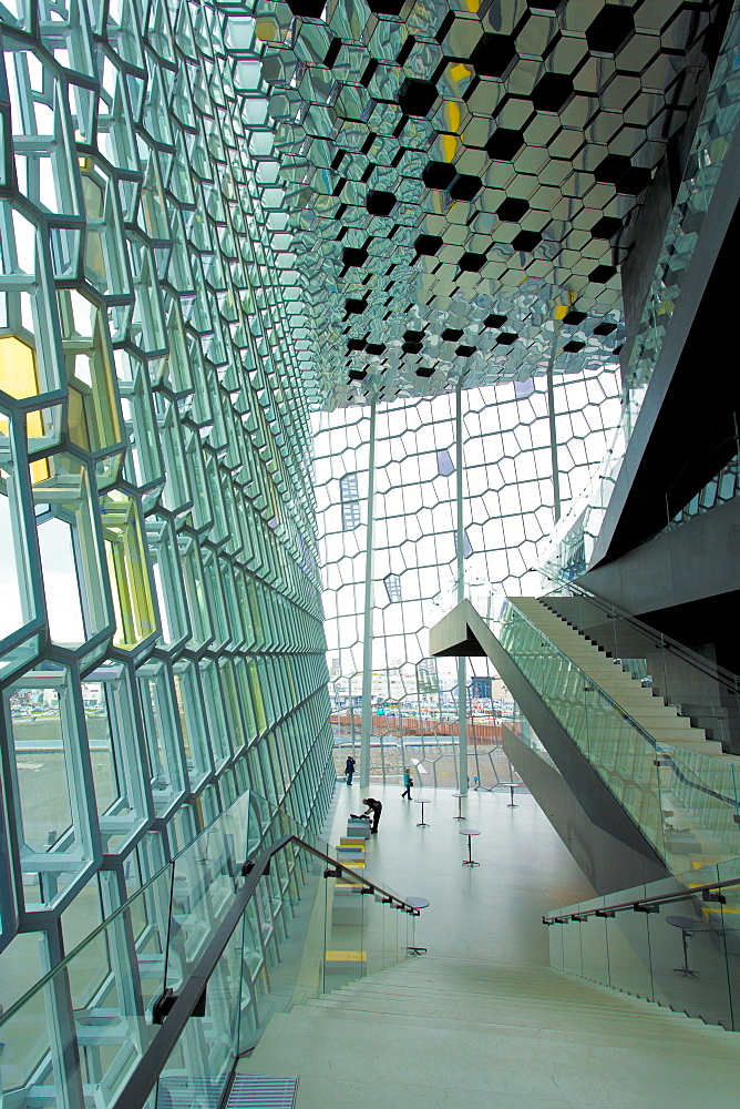 Interior of the Harpa concert hall, Reykjavik, Iceland, Polar Regions