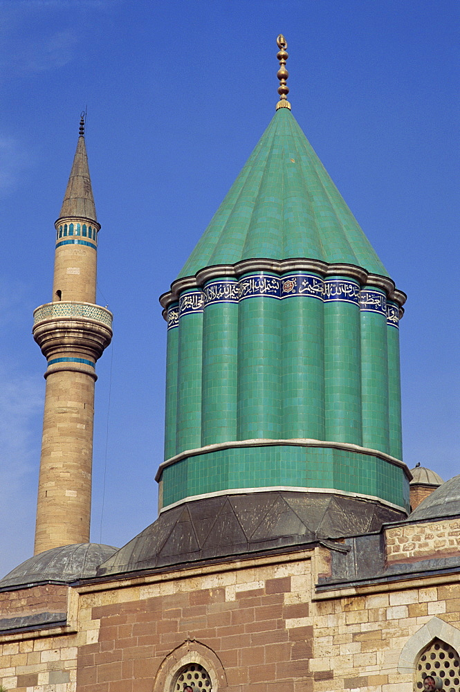 Mevlana Muzesi, Konya, Anatolia, Turkey, Asia Minor, Eurasia