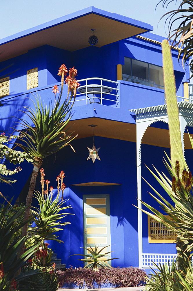 Yves Saint Laurent Garden House, Marrakesh, Morocco, North Africa, Africa - 358-502