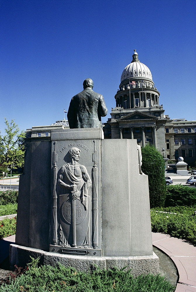 W. A. Coughanor Monument outside Idaho Capitol, Boise, Idaho, United States of America (U.S.A.), North America