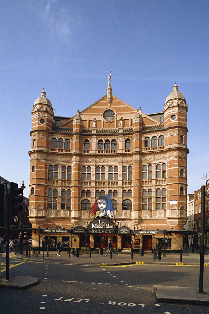 The Palace Theatre, showing the musical Les Miserables, Cambridge Circus, London, England, United Kingdom, Europe