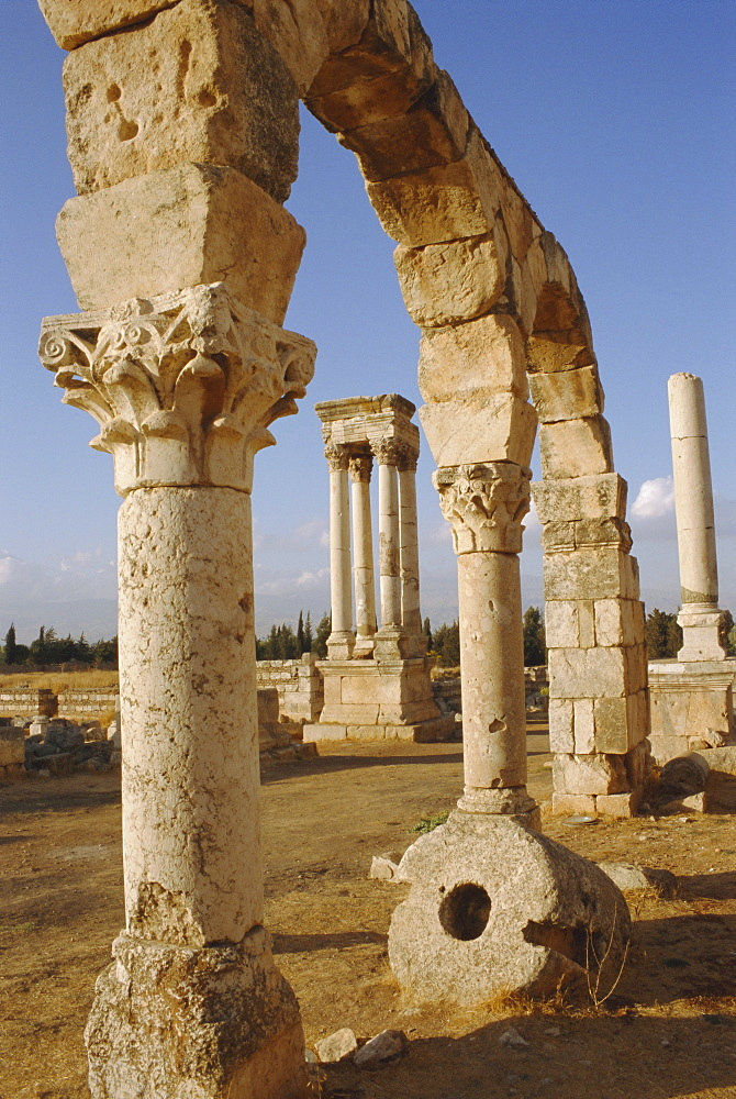 Aanjar, Umayyad remains, Bekaa Valley, Lebanon, Middle East