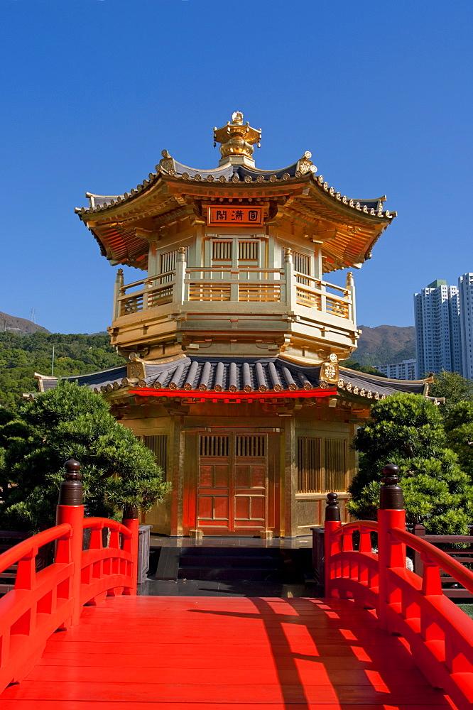 Chi Lin nunnery pagoda, Hong Kong, China, Asia