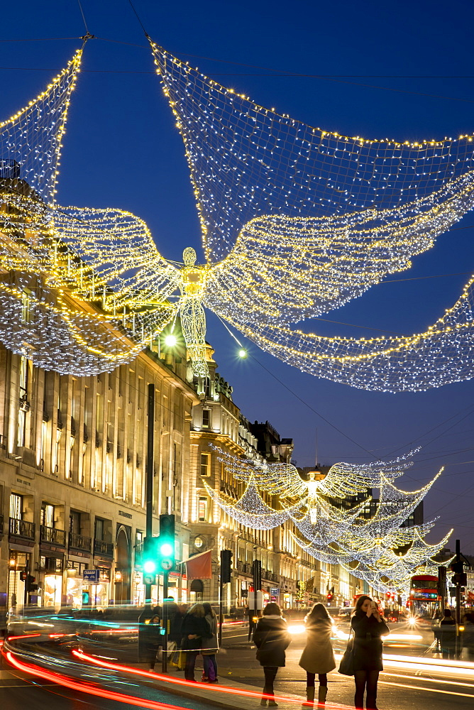 Christmas lights 2016, Regent Street, London, England, United Kingdom, Europe