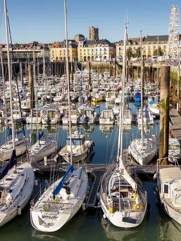 Dieppe harbour waterfront marina, Dieppe, Seine-Maritime, Normandy, France, Europe