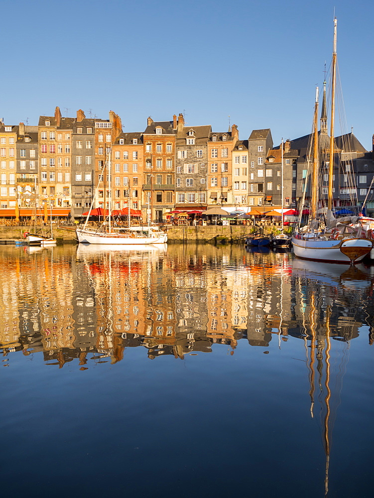 Honfleur old port, Calvados, Normandy, France, Europe