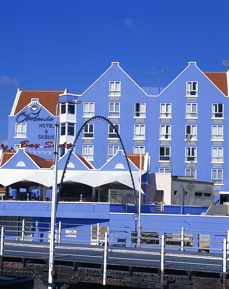 Waterfront hotel and casino, Willemstad, UNESCO World Heritage Site, Curacao, Netherlands Antilles, West Indies, Caribbean, Central America - 377-3062