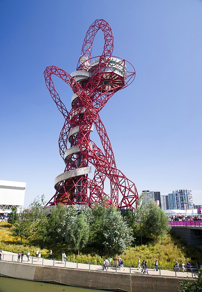 The ArcelorMittal Orbit at the Olympic Park, Stratford, London, England, United Kingdom, Europe - 377-3906