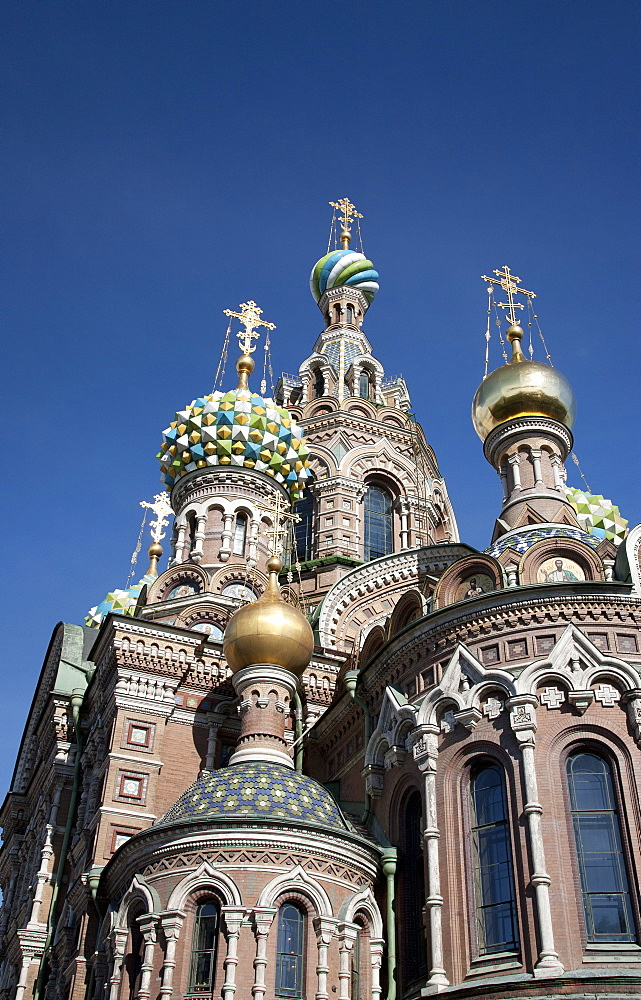 The Church of Spilled Blood, UNESCO World Heritage Site, St. Petersburg, Russia, Eurp[e - 377-3943