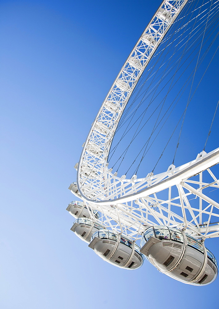 Detail of the London Eye, London, England, United Kingdom, Europe - 377-3987