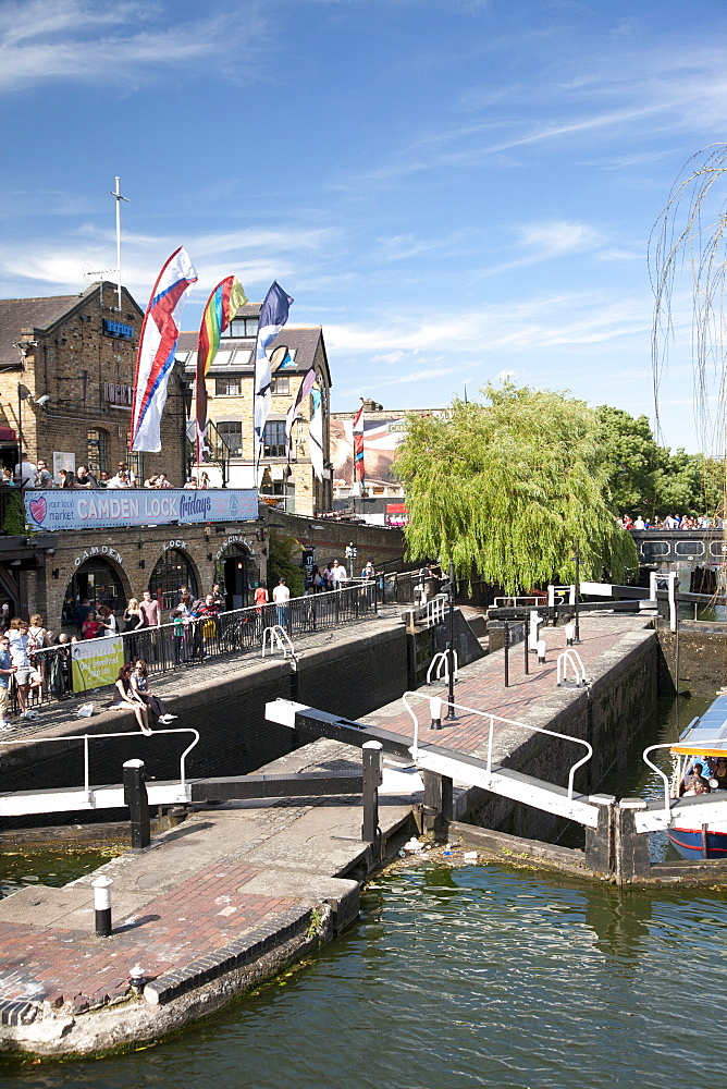 View of Camden Lock, Camden, London, England, United Kingdom, Europe - 377-3993