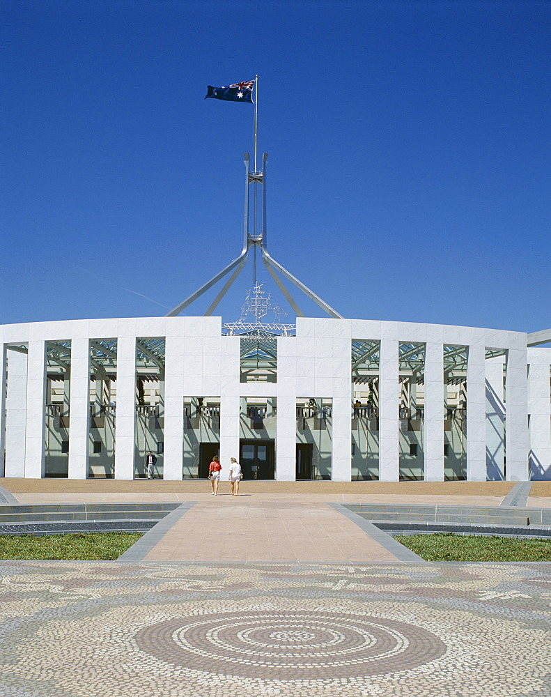Exterior of the new Parliament building, Canberra, Australian Capital Territory (ACT), Australia, Pacific