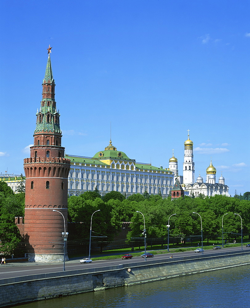 The Kremlin, UNESCO World Heritage Site, Moscow, Russia, Europe - 383-655