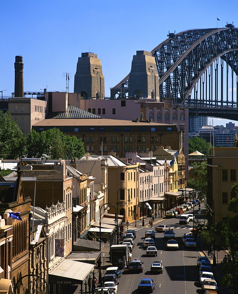 Sydney Harbour Bridge and the Rocks, Sydney, New South Wales, Australia, Pacific