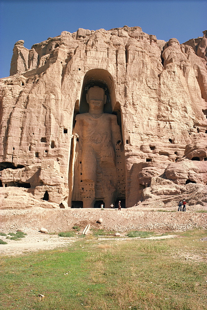 Large Buddha, subsequently destroyed by the Taliban, Bamiyan, UNESCO World Heritage Site, Afghanistan, Asia - 39-3520