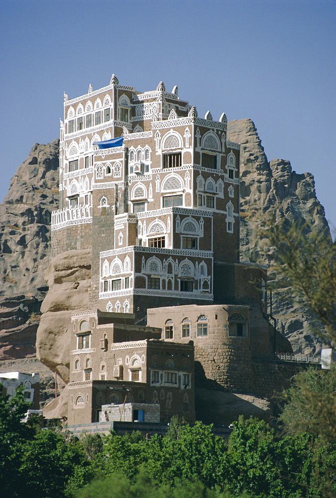 Old Summer Palace of Iman Yahya, Dar Al Hayjar, Yemen, Middle East