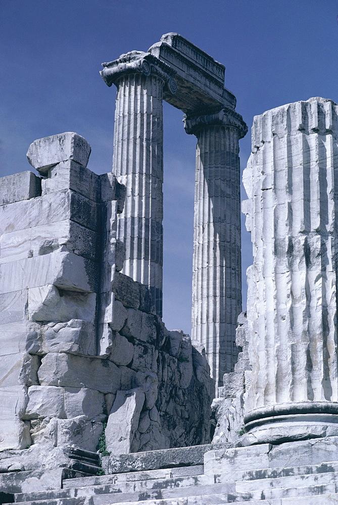 Ruins of the Temple of Apollo, archaeological site, Didyma, Aegean coast, Anatolia, Turkey, Asia Minor