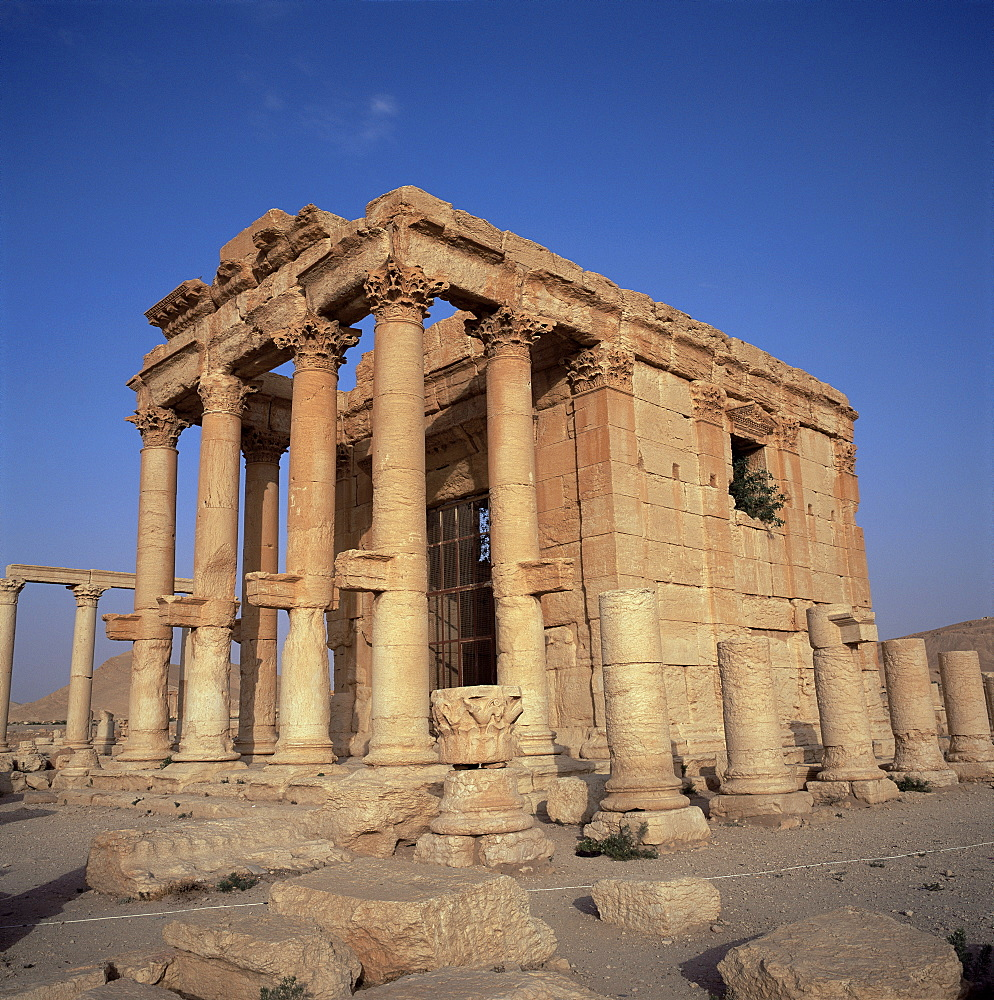 Roman temple of Baal-Shamine, dating from 23 AD, Palmyra, UNESCO World Heritage Site, Syria, Middle East