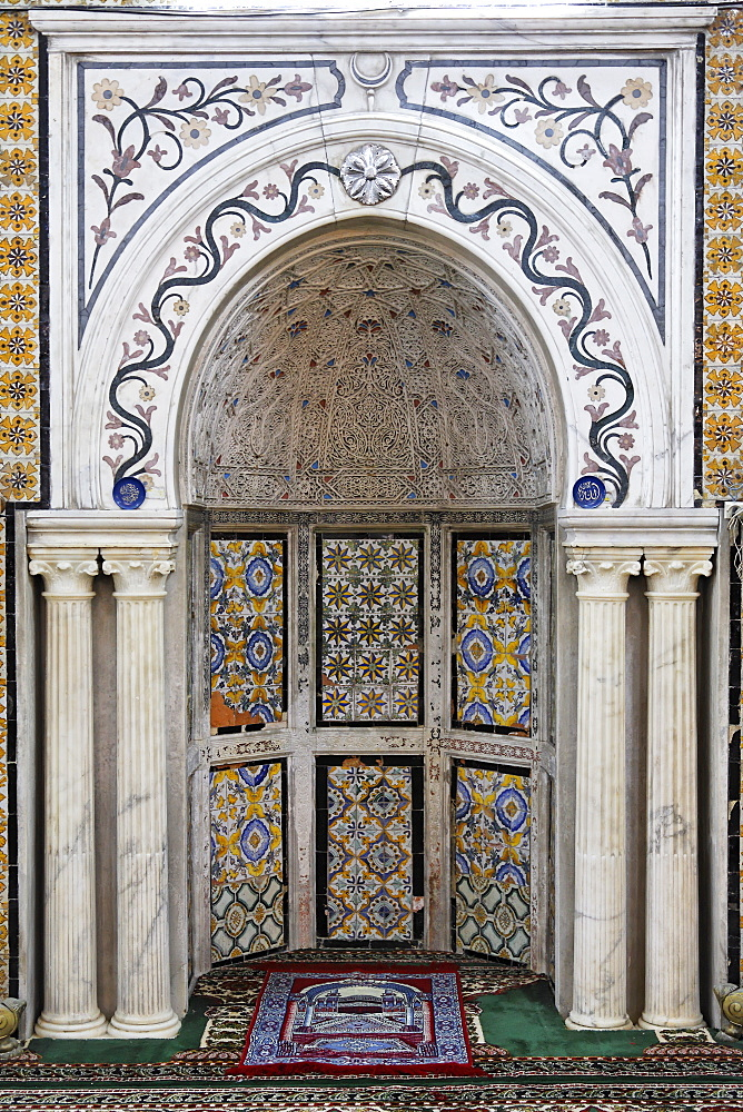 Mihrab, Gurgi Mosque, built in 1833 by Mustapha Gurgi, Tripoli, Libya, North Africa, Africa