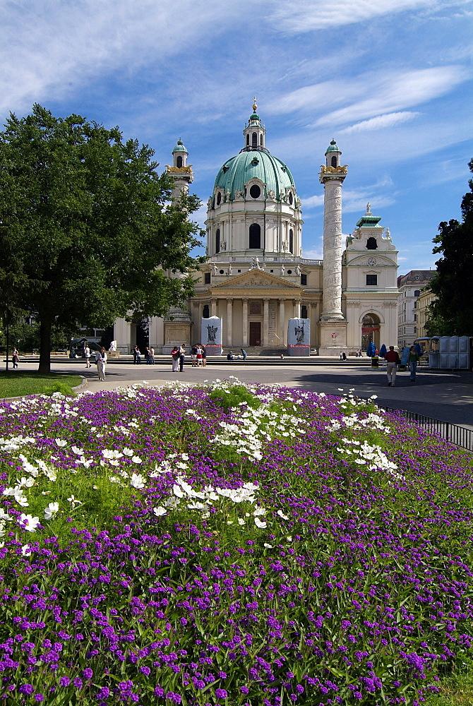 Karlsplatz and Karlskirche, Vienna, Austria, Europe