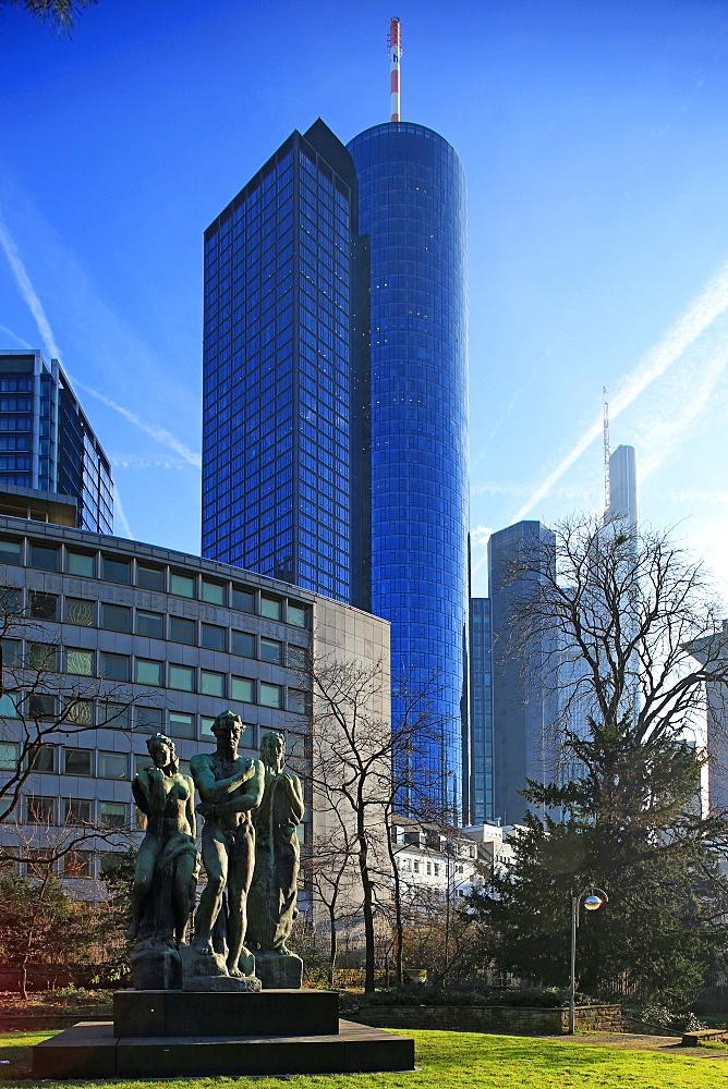 Taunusanlage and Financial District, Frankfurt am Main, Hesse, Germany, Europe
