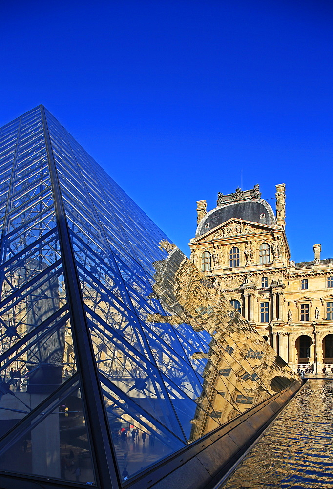 Pyramid of the Louvre, Paris, France, Europe