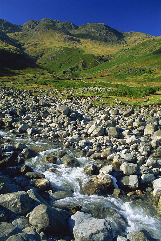 Oxendale Beck below Crinkle Crags, Lake District National Park, Cumbria, England, United Kingdom, Europe - 397-2025