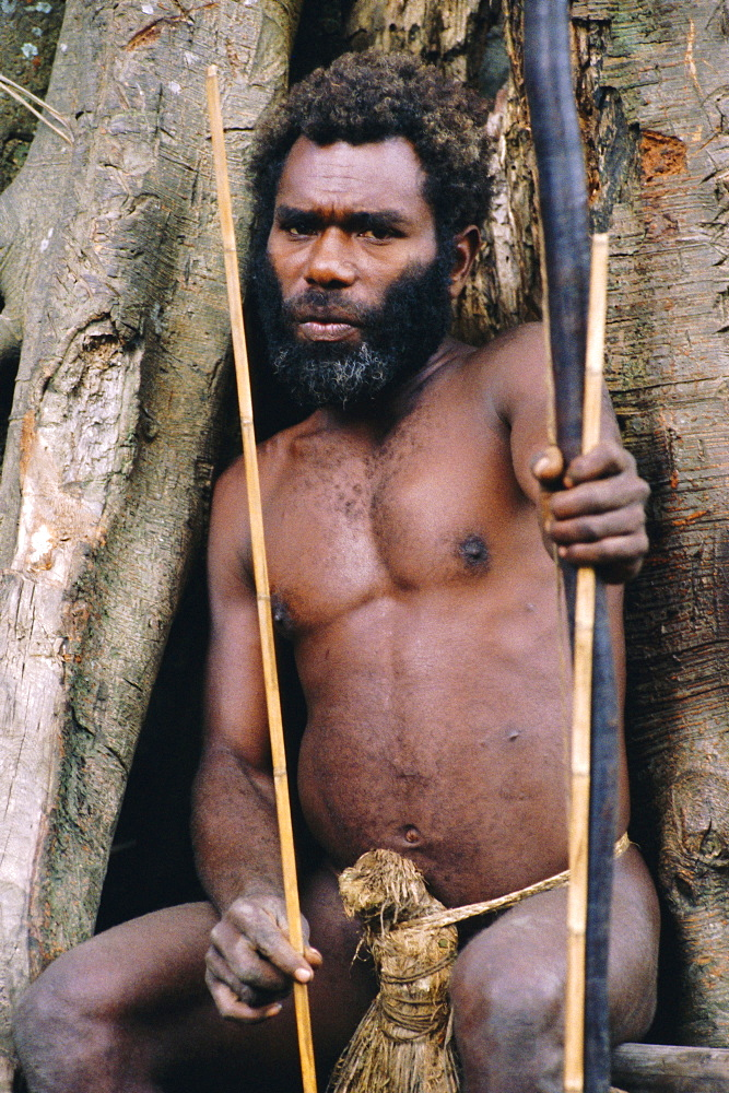 Tanna man, Tanna Island, Vanuatu, Melanesia, Pacific Islands