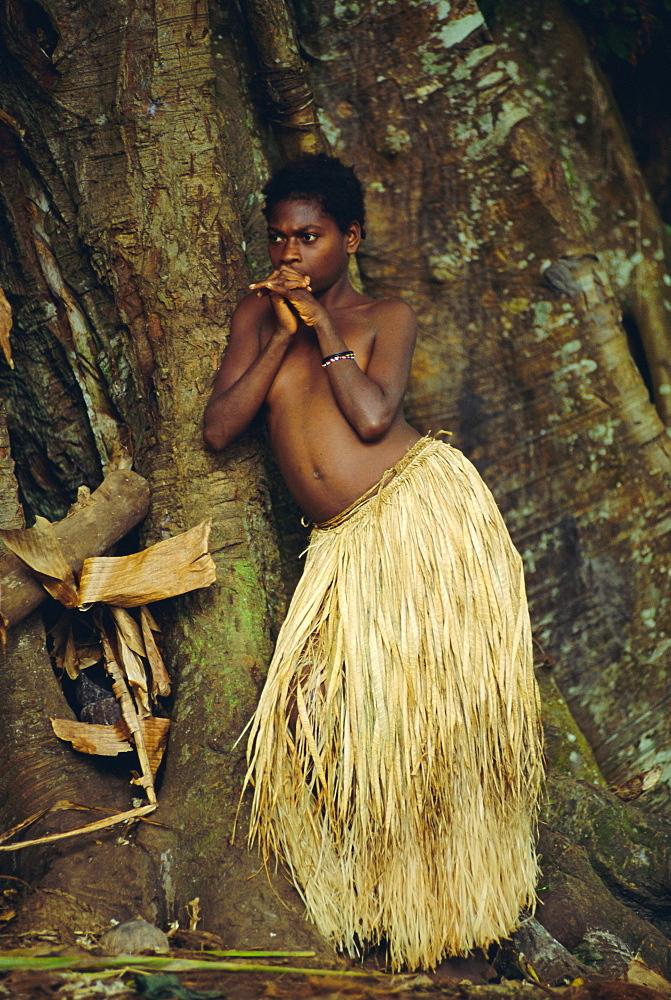 Young Tanna girl, Tanna Island, Vanuatu, Melanesia, Pacific Islands