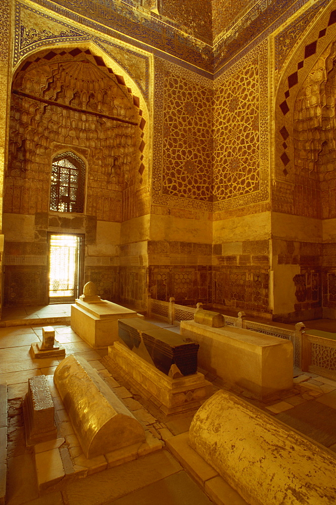 Interior of the tomb of Tamerlane, Gur Emir, Samarkand, Uzbekistan, Central Asia, Asia