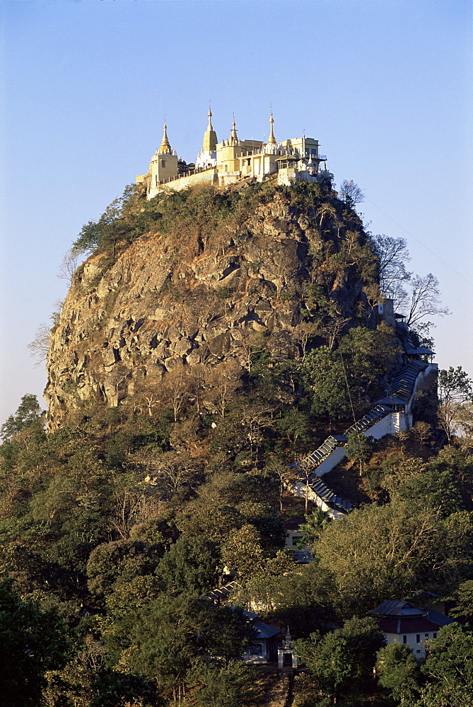 Mount Popa, centre of Nat worship, Myanmar (Burma), Asia
