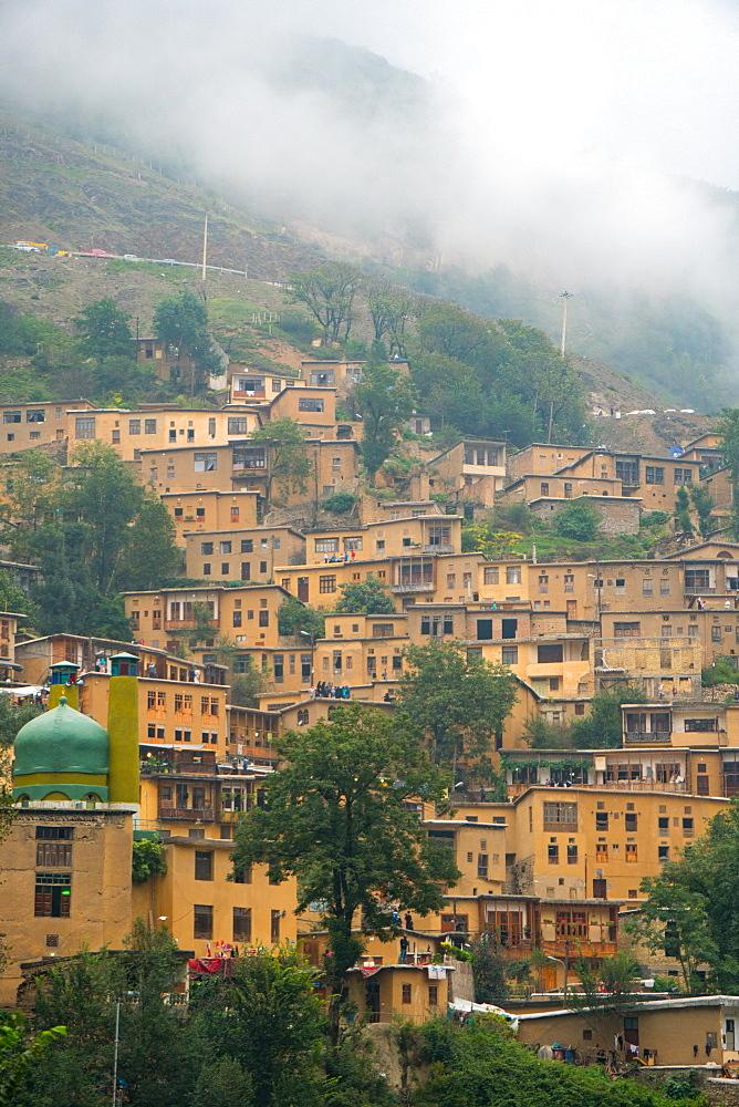 Mountain side, terraced town, Masuleh, Iran