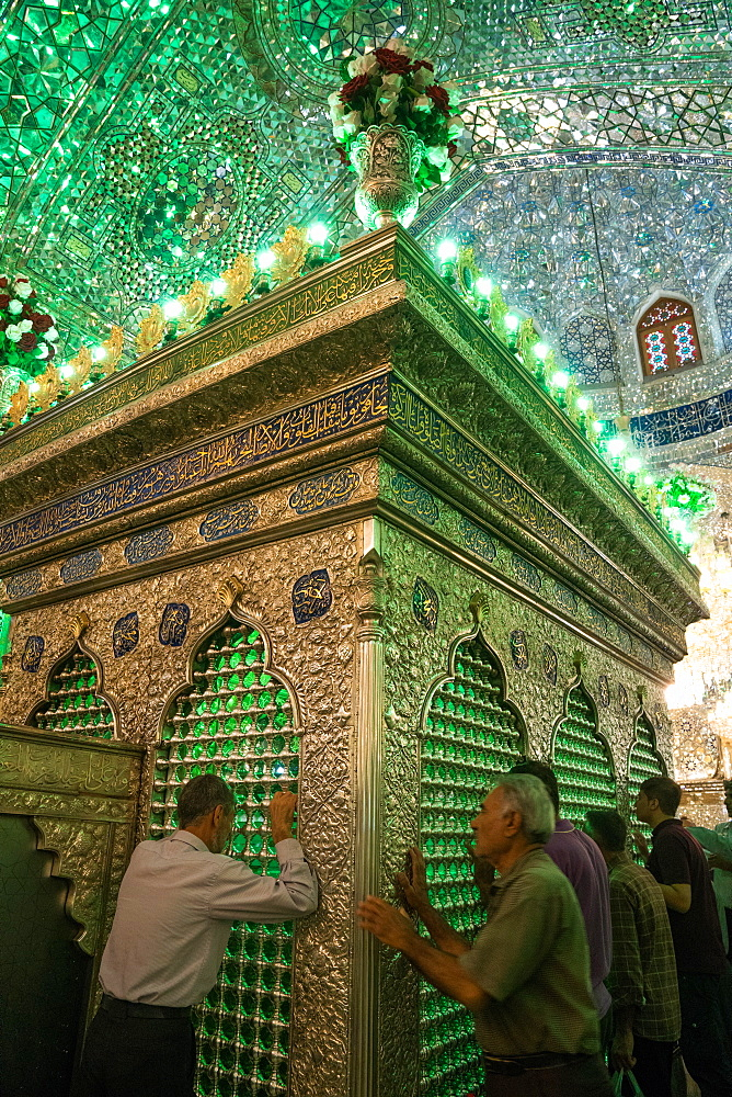 One of the holiest Shiite sites, Aramgah-e Shah-e Cheragh (Mausoleum of the King of Light), Shiraz, Iran, Middle East