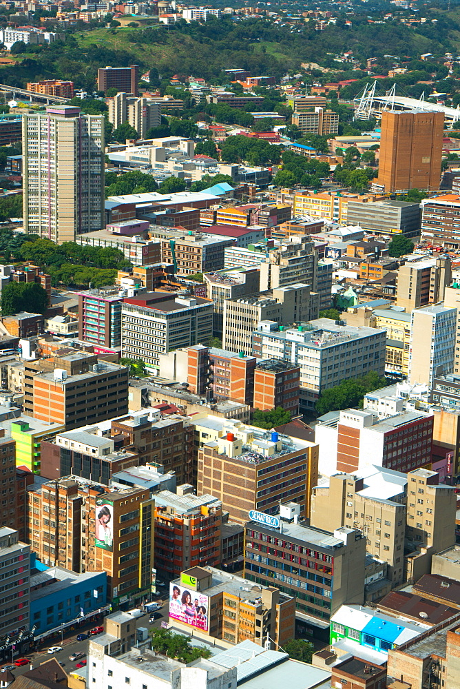 Johannesburg cityscape from the top of the Carlton Centre, Johannesburg, South Africa, Africa