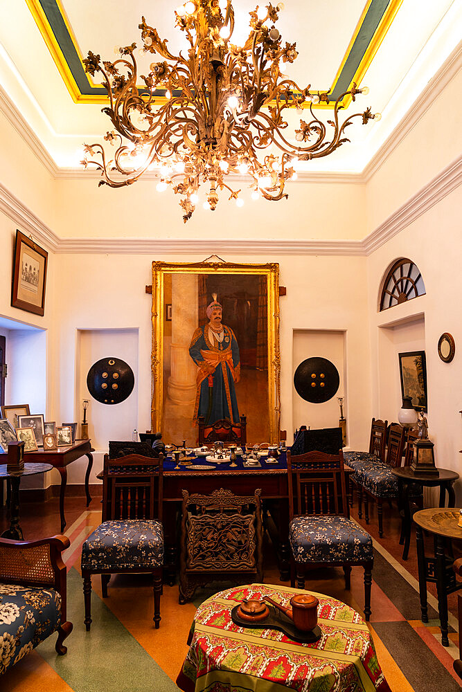 The Maharajah's study at the hunting lodge of the Maharajas of Jhalawar, now run by the family as Prithvi Vilas Palace Hotel.