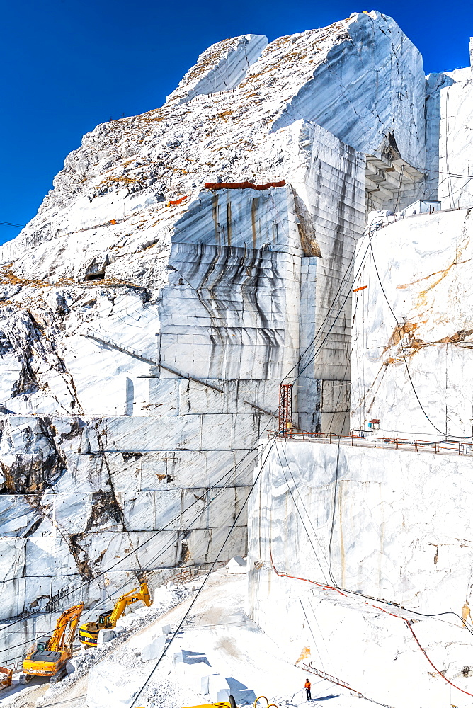 Cervaiole Marble Quarry on Mount Altissimo, Seravezza, owned by Henraux, Tuscany, Italy (Property Release)