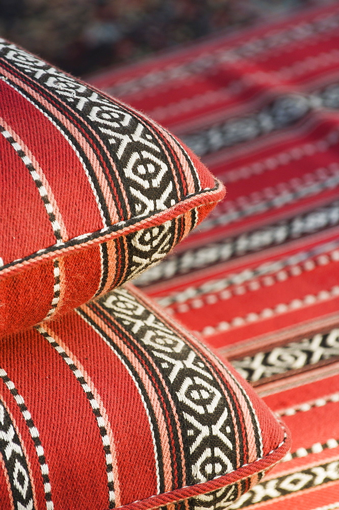 Arabian cushions, Dubai, United Arab Emirates, Middle East