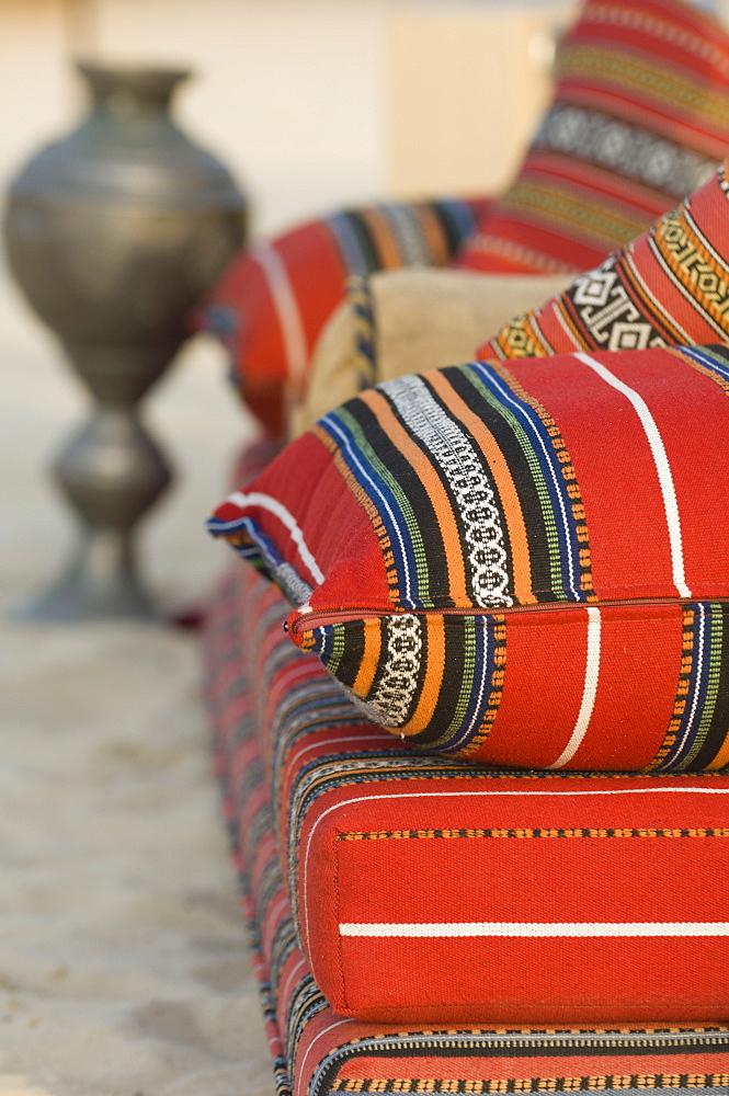 Arabic cushions, Dubai, United Arab Emirates, Middle East