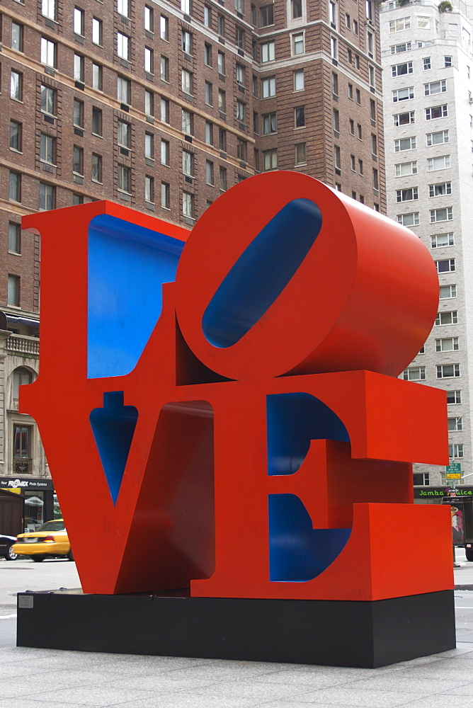 Love Sculpture by Robert Indiana, 6th Avenue, Manhattan, New York City, New York, United States of America, North America