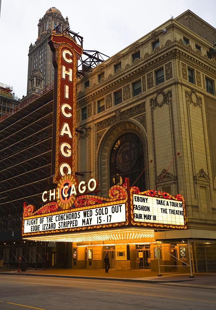 The Chicago Theatre, Chicago, Illinois, United States of America, North America
