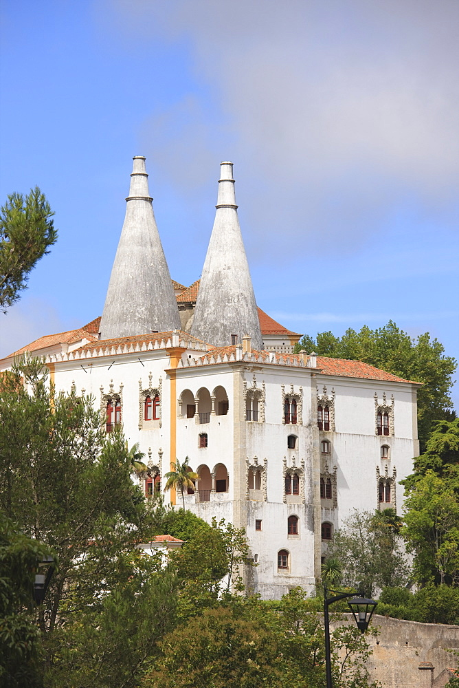 Sintra National Palace, formerly the Royal or Town Palace, Sintra, UNESCO World Heritage Site, Portugal, Europe - 462-2451