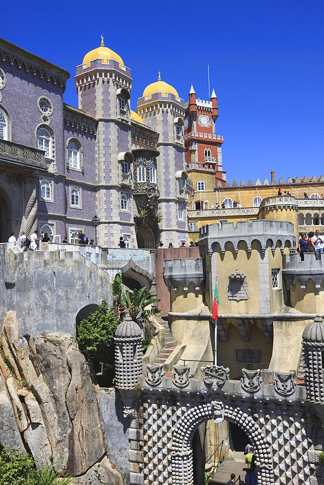 Pena National Palace, Sintra, UNESCO World Heritage Site, Portugal, Europe - 462-2493