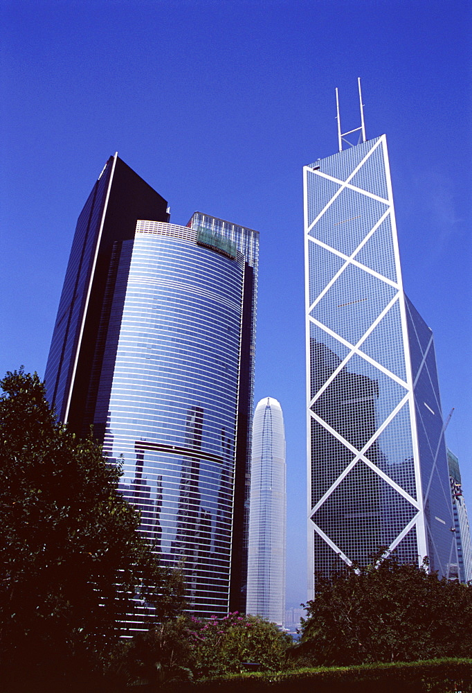 Citibank Tower and Bank of China, Central, Hong Kong Island, Hong Kong, China, Asia
