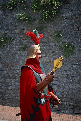 Medieval parade, Arezzo, Tuscany, Italy, Europe