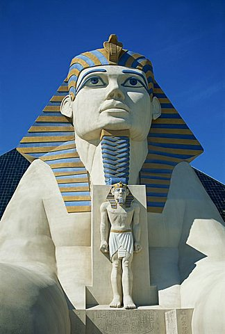 Sphinx, Hotel Luxor, Las Vegas, Nevada, United States of America, North America - 478-3977