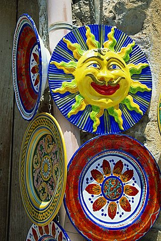 Pottery souvenirs, Sicily, Italy, Europe