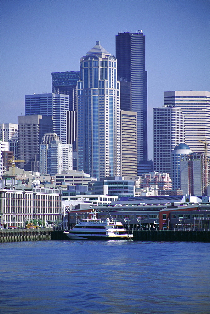 City skyline, Seattle, Washington State, United States of America (U.S.A.), North America
