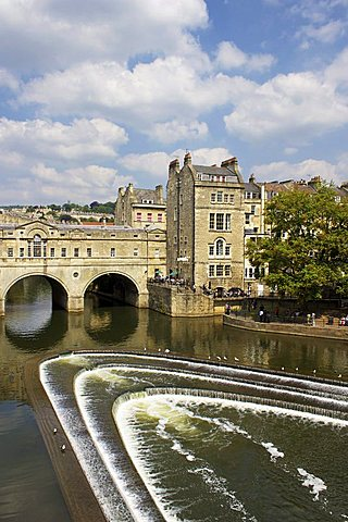 Pulteney Bridge and River Avon, Bath, UNESCO World Heritage Site, Avon, England, United Kingdom, Europe - 478-4708