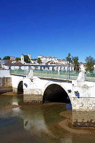 Roman Bridge and Old Town, Tavira, Algarve, Portugal, Europe